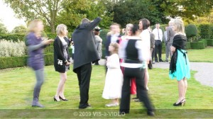 Wedding Guests at Wedding at Theobalds Park near Watford