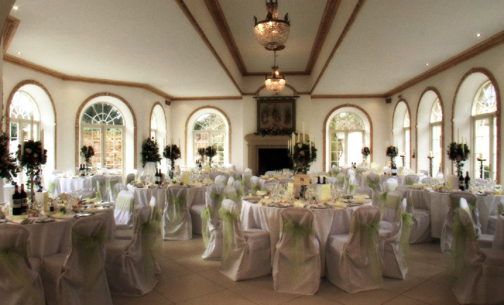 Wedding Reception Room at Northbrook Park