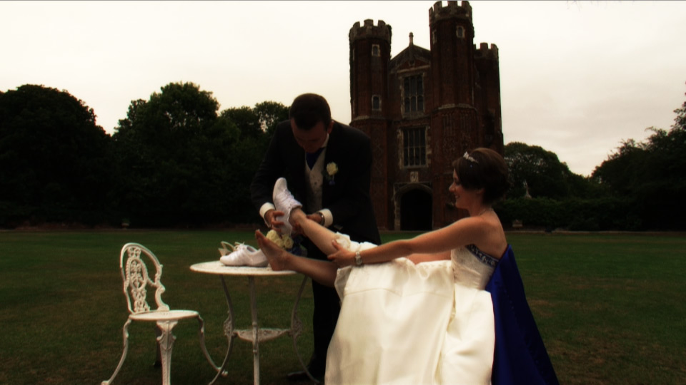 Bridal Shoes change Cinderella Moment