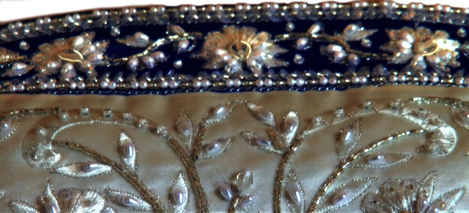 Blue Wedding Dress details
